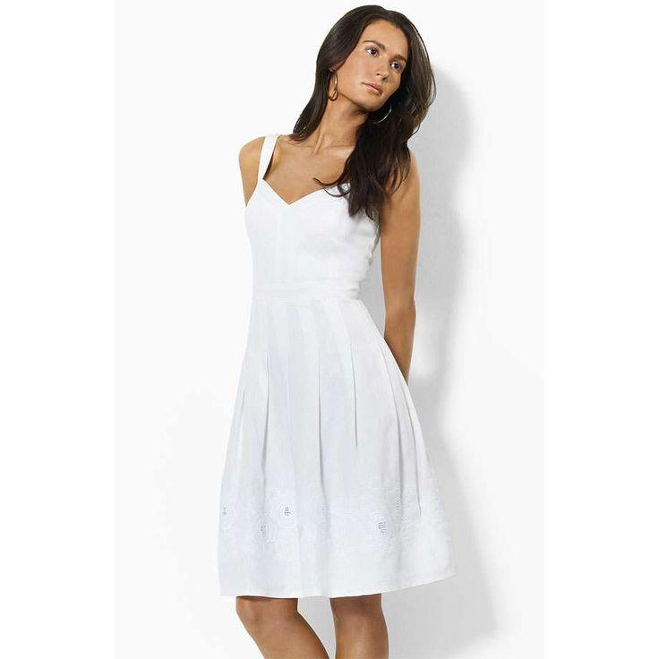 not a fan of linen, but like the lines of this clean Ralph Lauren sundress.