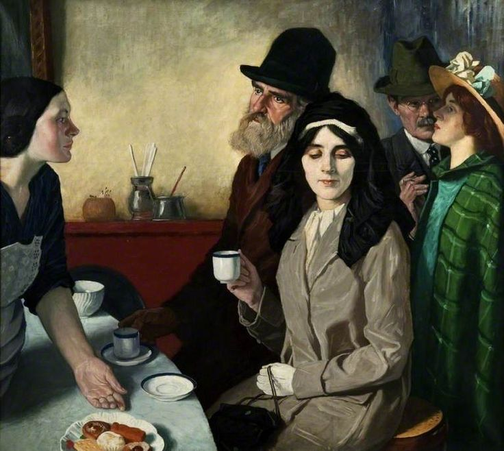 Café Bar, 1915 by William Strang (1859-1921)