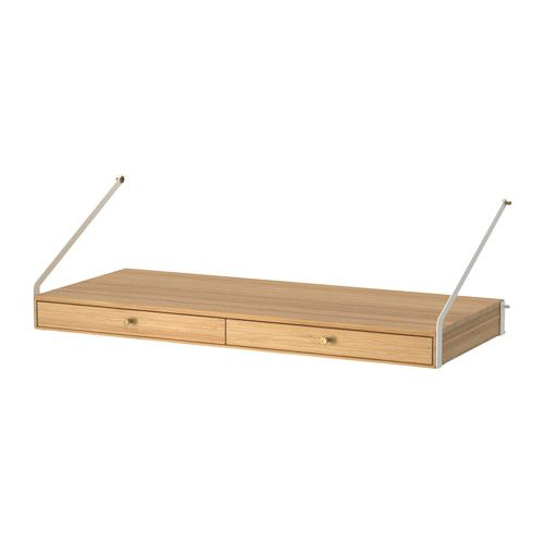 IKEA - SVALNÄS, Desk space with 2 drawers, , Smooth-running drawer with drawer stop to keep it in place.Small drawers make it easy to keep your things organised.Made of bamboo, which is an easy-care, hard-wearing natural material.