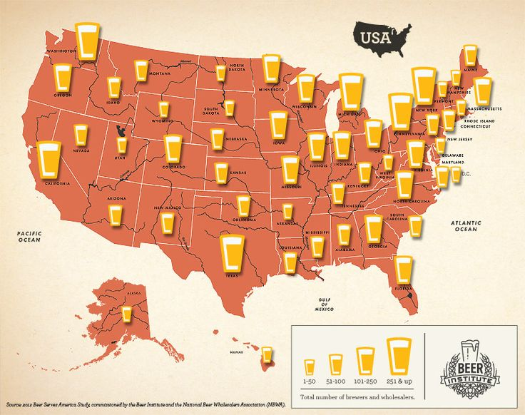 Number of beer brewers wholesalers by state beer pinterest number of beer brewers wholesalers by state beer pinterest interactive map beer games and homebrewing gumiabroncs Gallery