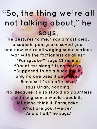 Pansycake. I love Uriah. :)