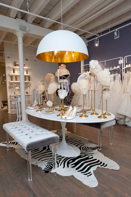 White Montreal Accessories Table Display