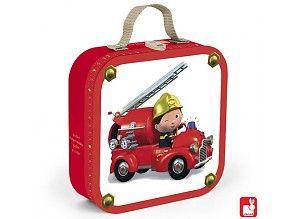 Janod Puzzelkoffer Leon`s Brandweerwagen