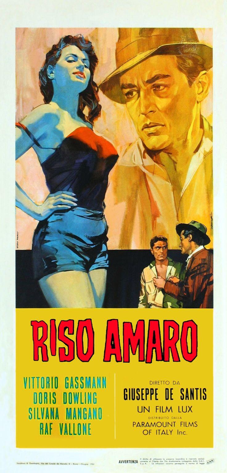 Riso Amaro di Giuseppe De Santis con Vittorio Gassman , Silvana Mangano e Raf Vallone 1949