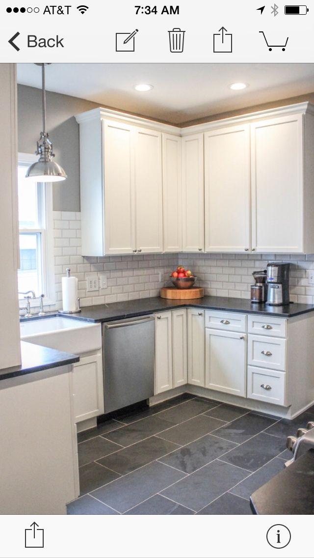 Kitchen Floor - Montauk black 12x24 slate