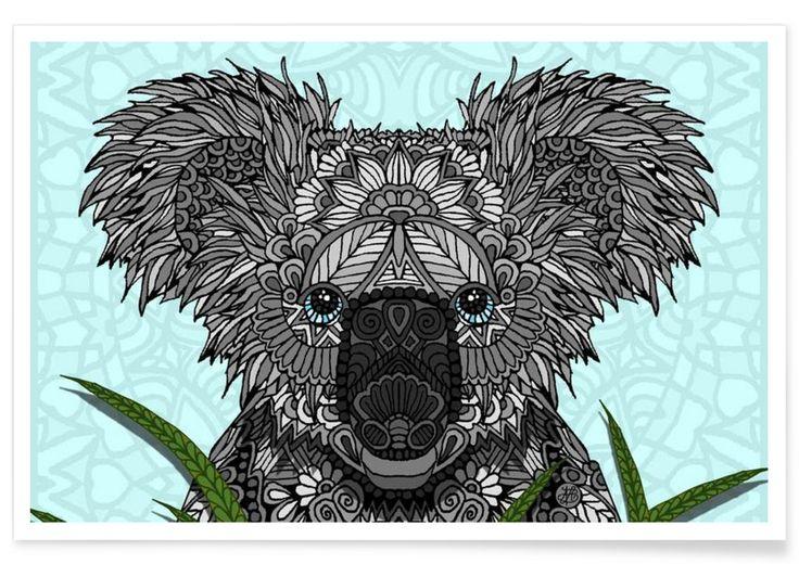 Koala als Premium Poster von Angelika Parker   JUNIQE