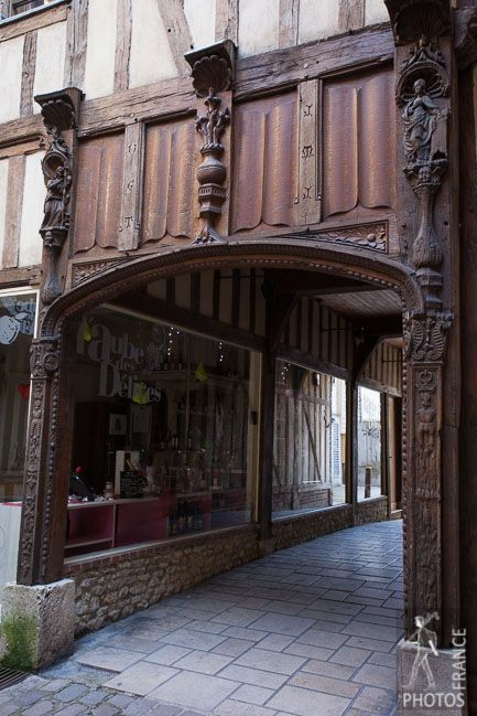 Courtyard of the old city of Troyes, France