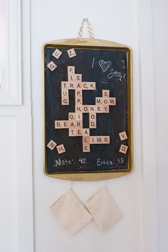 Monthly DIY Challenge: Dollar Store Magnetic Scrabble Board - Dwell Beautiful