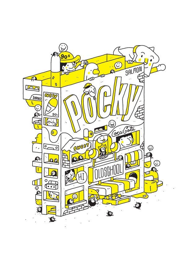 POCKY : OLDSCHOOL 2 BOOKS by 3LAND, via Behance