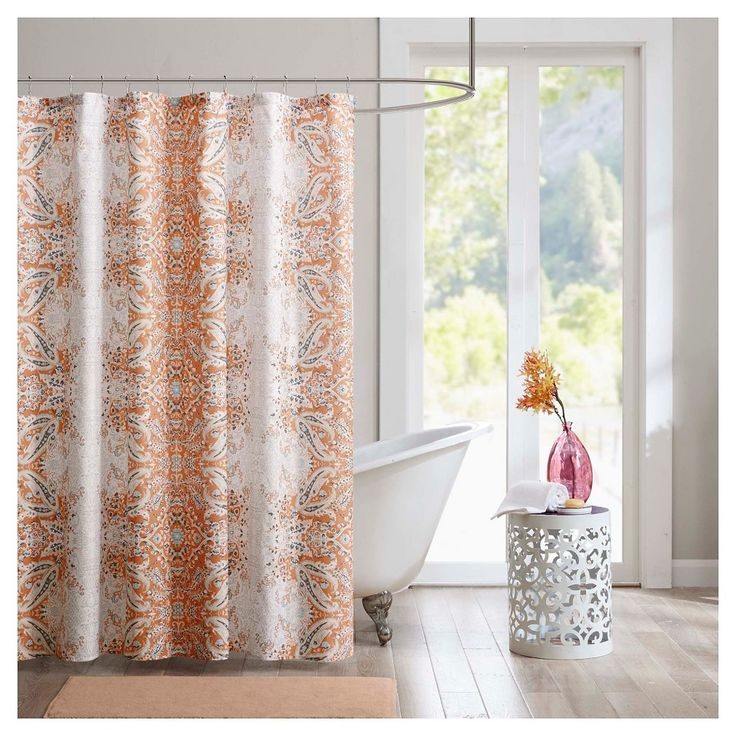 Shower Curtain - Orange - (72X72), Orange Sorbet
