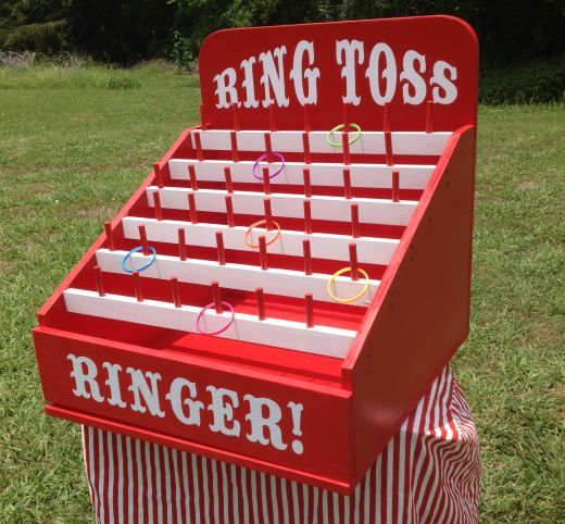 Ring Toss- lots of other good games that could be built from the pictures