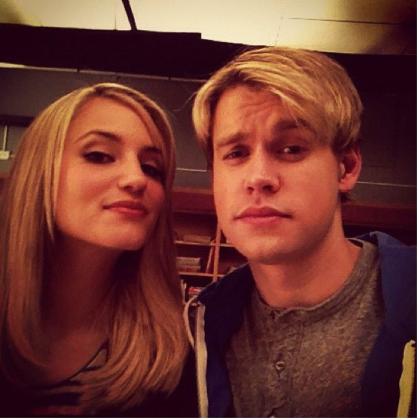 Glee's backstage with Dianna (Best friend) and Chord (Boyfriend)