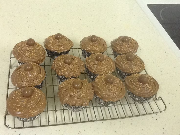 Bailey's orange chocolate cupcakes