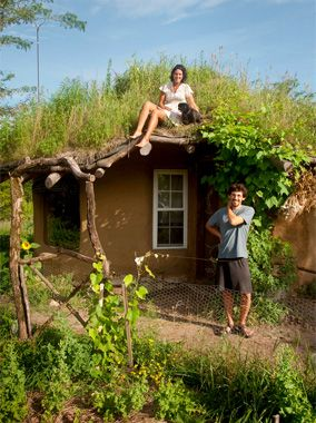 A Mud Home That's Dirt Cheap    With its green roof and rural flavor, this 200-square-foot cottage in Missouri has its, um, roots in the centuries-old art of cob construction—earthen walls formed of clay, sand, and straw. Cost of construction was about $4,000, or a modest $20 per square foot. Of course it includes a mudroom addition.