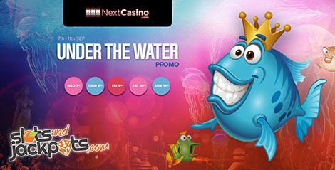 Do not miss the free spins and bonus giveaway. For five days NextCasino will run Under The Water Promotion and give away lots of free spins and cash bonuses!  Read more..   http://www.slotsandjackpots.com/en/news/under-the-water-promotion/    #casino #bonus #freespins #slot #festival #nextcasino #jackpot #raffle #lottery #giveaway #netent #promo