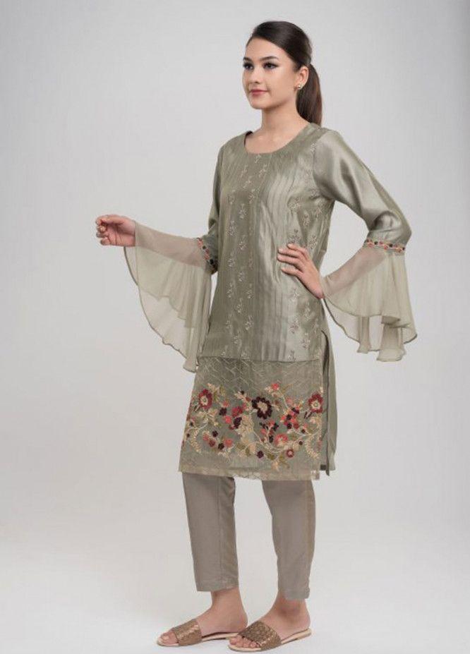 da0b6f42f9 Dhanak Pret Kurtis for Women 2019 Collection - Buy Online | Sanaulla Store  - Dhanak Clothing