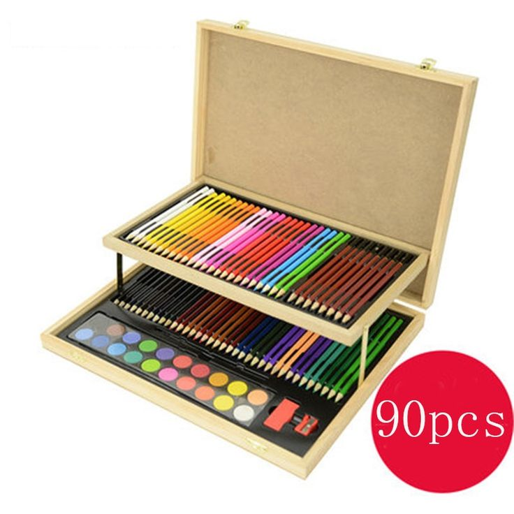 163.99$  Buy here - http://alimdd.worldwells.pw/go.php?t=32666019105 - 90pcs/set Children Drawing Pencil Set Gift Box Art Supplies Children's Day School Stationery Supplies 1 Set 163.99$