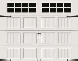 Ideal Door Designer White 10 X 8 Steel Panel Better Construction R Value 9 0 Garage Door With Sq24 W Garage Door Windows Garage Door Panels White Paneling