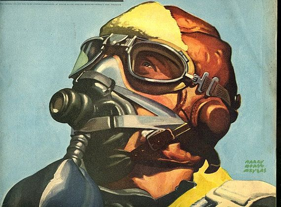 1942 collier gas mask cover illustration