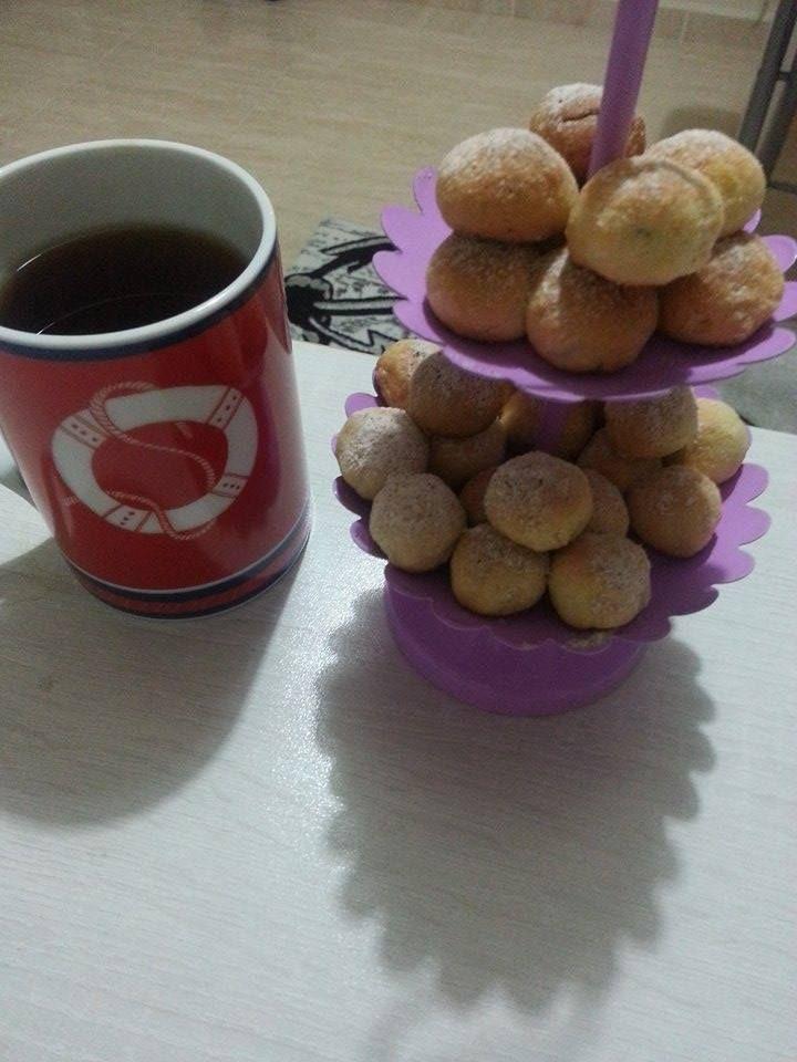çayım ve fındıklı misket kurabiyelerim