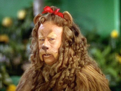 Cowardly-Lion from the Wizard of Oz had adorable curly ringlets. This costume sold for $3 mill!!!