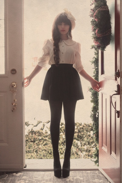 Welcome: Fashion, Style Inspiration, Peter Pan Collars, Peter O'Tool, Pretty Things, Braids, Hair Bows, Big Bows, Amazing Outfit Tumblr