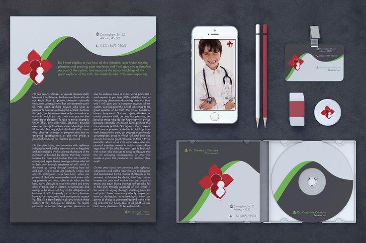 Children Healthcare - Brand Identity by Spyros Thalassinos on Creative Market