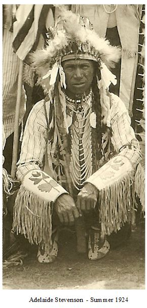 Bear in the Water, Arikara, talks, Mandan, August 3rd, 1924