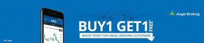 Buy 1 and Get 1 Offer on Movie Ticket for Angel Broking Users