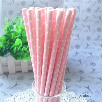 Pink Paper Drinking Straws fo Baby Shower Party //Price: $9.00 & FREE Shipping // #kid #kids #baby #babies #fun #cutebaby #babycare #momideas #babyrecipes  #toddler #kidscare #childcarelife #happychild #happybaby