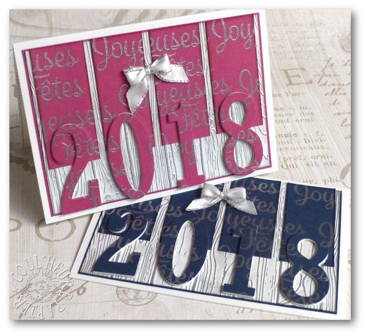 Coul'Heure Papier: Carte de Voeux 2018 [Tutoriel]