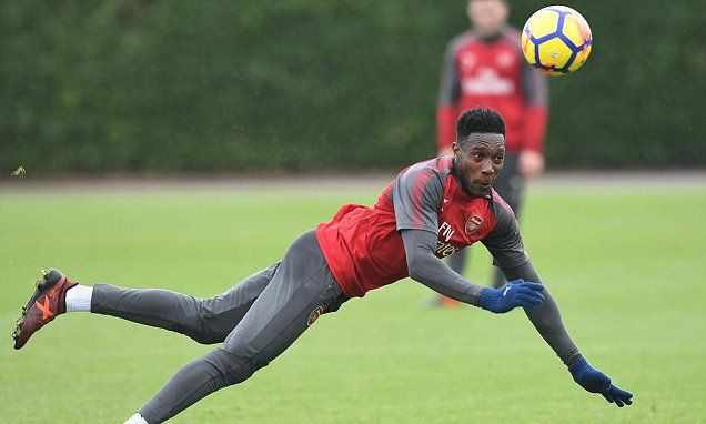 Arsenal's Danny Welbeck trains ahead of north London derby