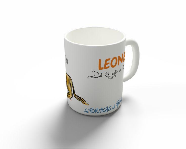 """Tazza """"Leone""""   Le Formiche di Fabio Vettori #tazza #oroscopo #MUG #formiche #zodiaco #regalo #gift #leone"""