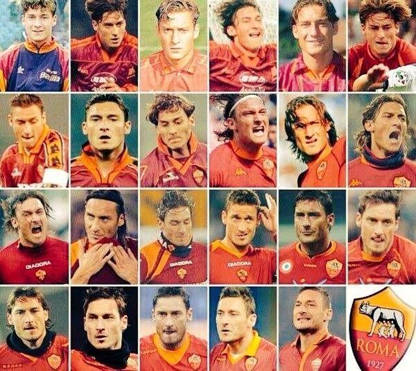Od debiutu w 1993 roku do dzisiaj • 23 lata Francesco Tottiego w AS Romie • Jak zmieniał się Totti od pierwszego występu • Zobacz >> #totti #roma #asroma #football #soccer #sports #pilkanozna