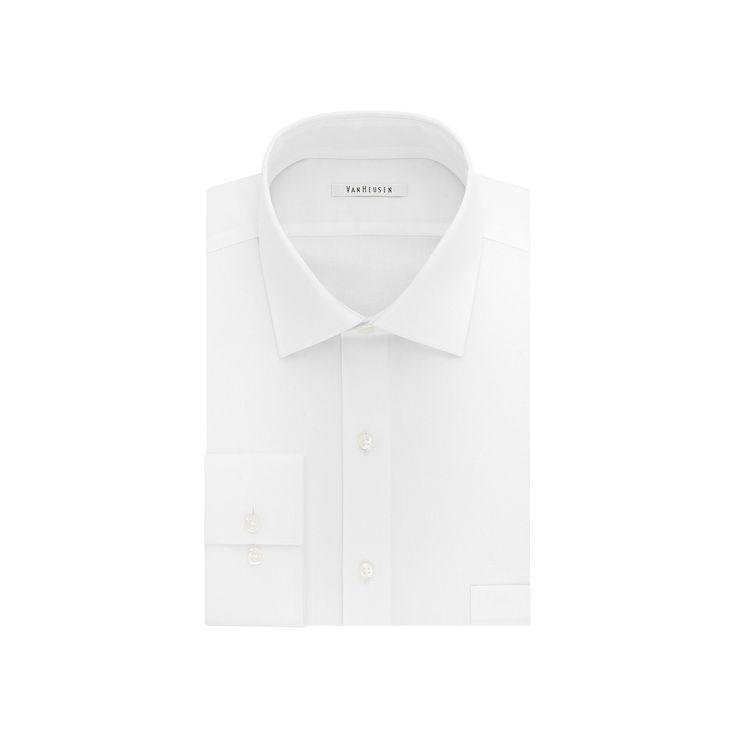 Men's Van Heusen Flex Collar Regular-Fit Dress Shirt, Size: 15.5-32/33, White