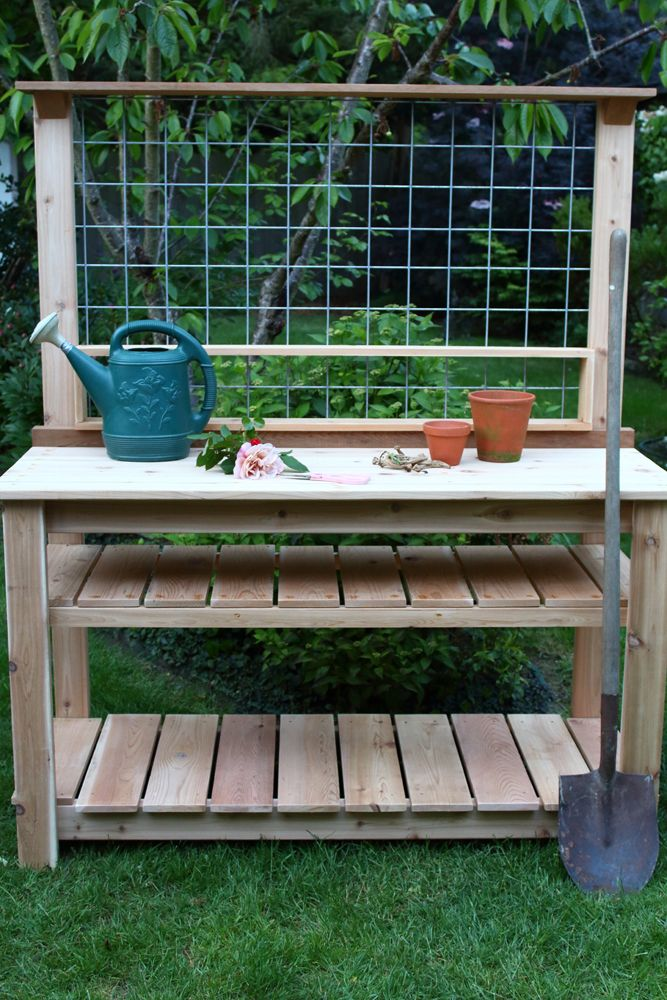 Oversize Cedar Potting Bench Dream Garden Woodworks Potting Benches Pinterest Potting