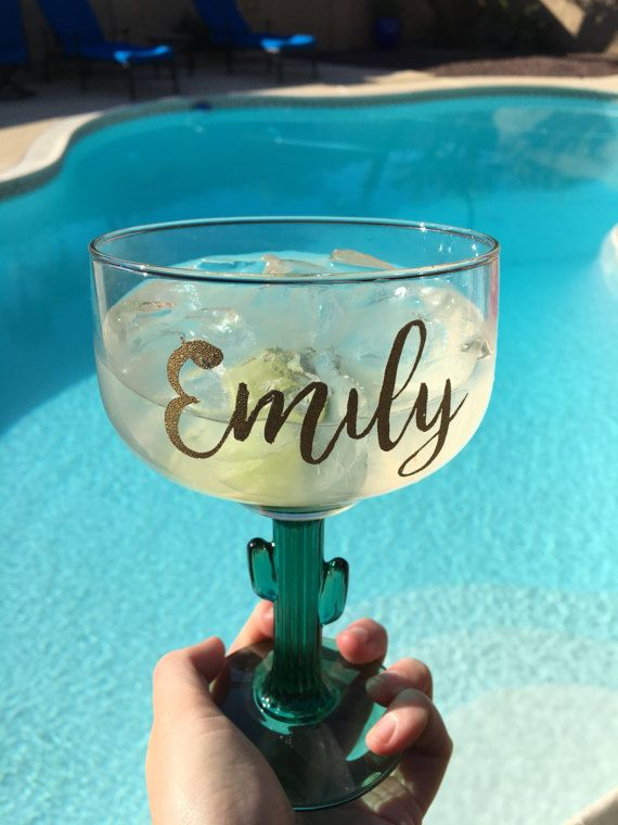 Cactus Margarita Glass- Bachelorette Party Accessories- AZ Bachelorette Party- Cactus themed bachelorette-