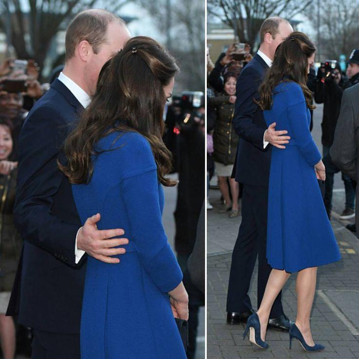 #KateMiddleton and #PrinceWilliam depart after visiting a Child Bereavement UK Centre at CBUK Stratford on January 11, 2017