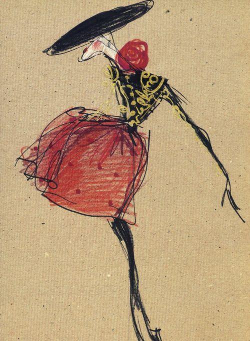 Sketch by Christian Lacroix (via hautekills)