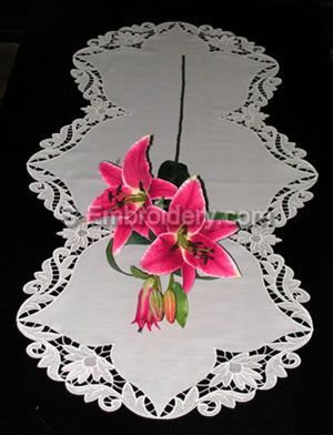 Freestanding Lace Table runner
