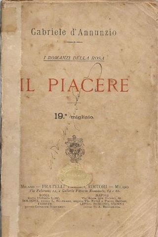 """El placer"" Gabriele d'Annunzio"