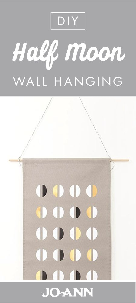 There are so many things that can inspire you home decor style. But, one of our favorites is this DIY Half Moon Wall Hanging! Plus, this project tutorial from Jo-Ann can show you just how easy it is.