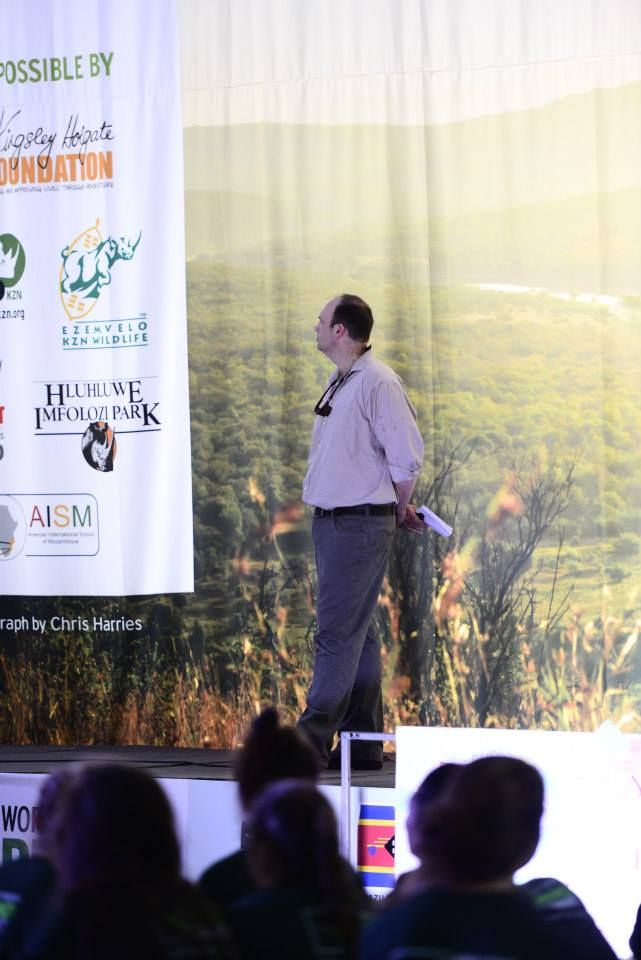 Chris Galliers addressing our Rhino Warriors www.youthrhinosummit.com #wildlife #rhino