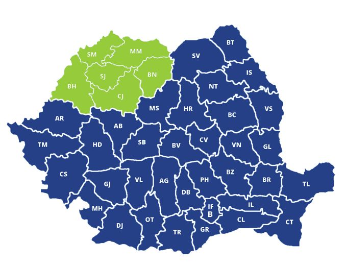 Productivitatea muncii - top producatori regiunea Nord-Vest