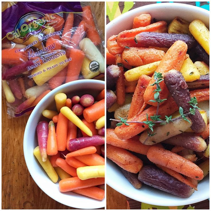 Honey-Roasted Rainbow Carrots via MealMakeoverMoms.com/kitchen #vegetables #Ottolenghi