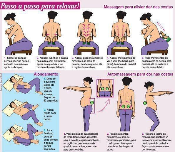 Exercicios alivian gestante.