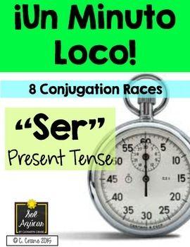 Minuto Loco Race Worksheets - El verbo Ser - By Sol Azúcar