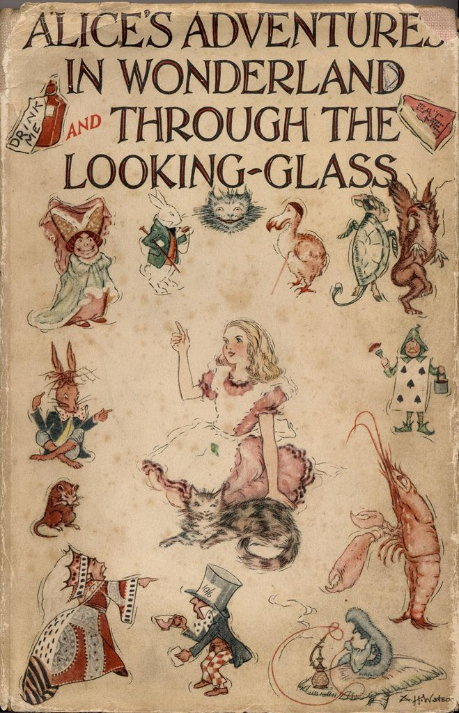 Collins 1939; Alice's Adventure in Wonderland and through the looking-glass by Lewis Carroll with 8 colored plates by A.H. Watson.