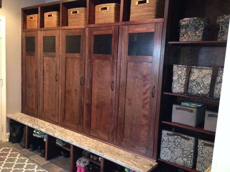 44 best mudroom images on pinterest good ideas my house for Entryway lockers with doors