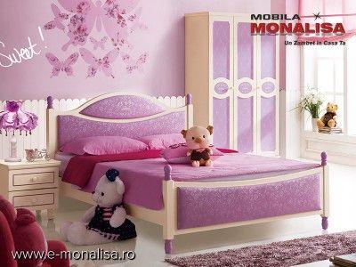 Mobila Tineret Queen   Mobila Copii si Tineret - Dormitor Fete mov